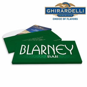 Deluxe Personalized Blarney Bar St. Patrick's Day Ghirardelli Peppermint Bark Bar in Gift Box (3.5oz)