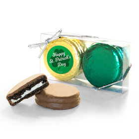 St. Patricks Day Clovers 2Pk Chocolate Covered Oreo Cookies