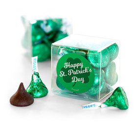 St. Patrick's Day Clovers Hershey's Kisses Clear Gift Box