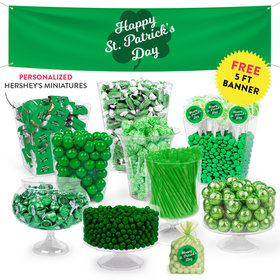 Personalized St. Patrick's Day Clovers Deluxe Candy Buffet