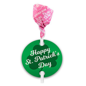 St. Patricks Day Script Clover Dum Dums with Gift Tag (75 pops)
