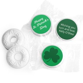 Personalized St. Patrick's Day Clover Life Savers Mints