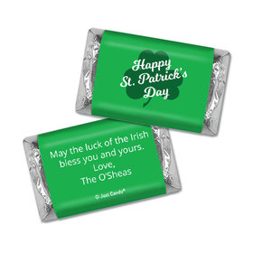 Personalized St. Patrick's Day Clover Hershey's Miniatures