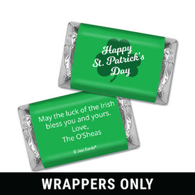 Personalized St. Patrick's Day Clover Mini Wrappers