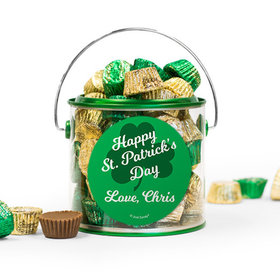 Personalized St. Patrick's Day Clovers Reese's Filled Green Paint Can