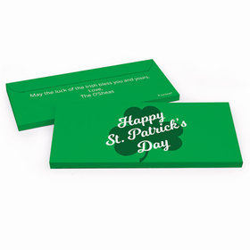 Deluxe Personalized Clover St. Patrick's Day Chocolate Bar in Gift Box