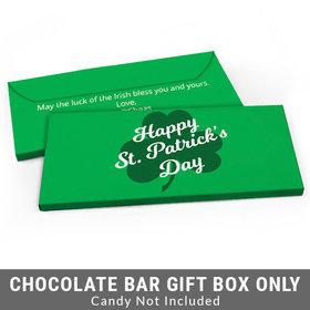 Deluxe Personalized Clover St. Patrick's Day Candy Bar Cover