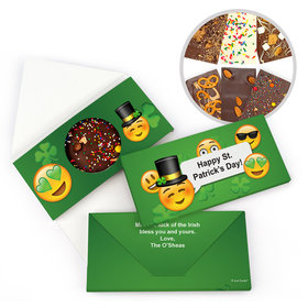 Personalized Day Emoji St. Patrick's Gourmet Infused Belgian Chocolate Bars (3.5oz)