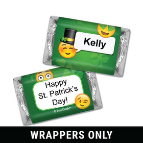 Personalized St. Patrick's Day Emoji Mini Wrappers