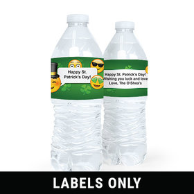 Personalized St. Patrick's Day Emoji Water Bottle Sticker Labels (5 Labels)