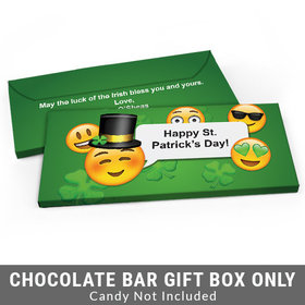 Deluxe Personalized Emoji St. Patrick's Day Candy Bar Cover