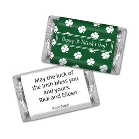 Personalized St. Patrick's Day Shamrocks Hershey's Miniatures