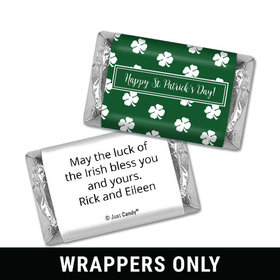 Personalized St. Patrick's Day Shamrocks Mini Wrappers