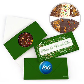 Personalized Day Swirls St. Patrick's Gourmet Infused Belgian Chocolate Bars (3.5oz)