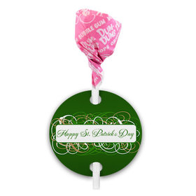 St. Patricks Day Swirls Dum Dums with Gift Tag (75 pops)