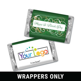 Personalized St. Patrick's Day Swirls Mini Wrappers