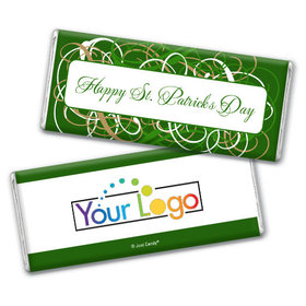 Personalized St. Patrick's Day Swirls Chocolate Bar & Wrapper