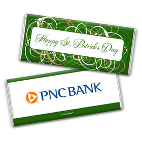 Personalized St. Patrick's Day Swirls Chocolate Bar Wrappers
