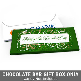 Deluxe Personalized Swirls St. Patrick's Day Candy Bar Cover