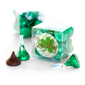 St. Patrick's Day Stripes Hershey's Kisses Clear Gift Box