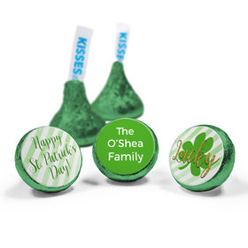 Personalized St. Patrick's Day Stripes Hershey's Kisses (50 Pack)