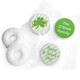 Personalized St. Patrick's Day Stripes Life Savers Mints