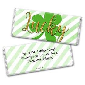 Personalized St. Patrick's Day Stripes Chocolate Bar Wrappers