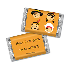 Pilgrims & Indians Thanksgiving Personalized Miniature Wrappers
