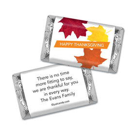 Paper Leaves Thanksgiving Personalized Miniature Wrappers