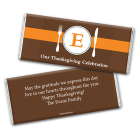 Thanksgiving Dinner Personalized Candy Bar - Wrapper Only