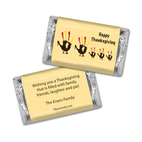 Handful of Turkeys Thanksgiving Personalized Miniature Wrappers