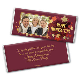Fall Feast Personalized Candy Bar - Wrapper Only