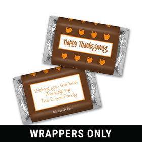 Turkey Time Thanksgiving Personalized Miniature Wrappers