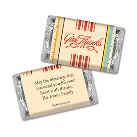 Happiness & Blessings Thanksgiving Personalized Miniature Wrappers