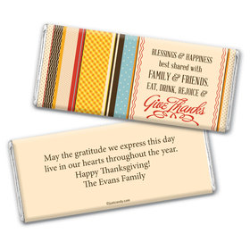 Happiness & Blessings Personalized Candy Bar - Wrapper Only