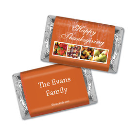 Thanksgiving Personalized HERSHEY'S MINIATURES Wrappers Autumn Harvest