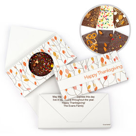 Personalized Fall Woods Thanksgiving Gourmet Infused Belgian Chocolate Bars (3.5oz)