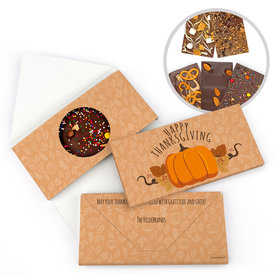 Personalized Thanksgiving Pumpkin Patch Bar Gourmet Infused Belgian Chocolate Bars (3.5oz)