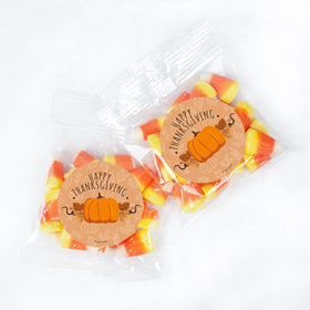 Personalized Thanksgiving Pumpkin Patch 1oz Candy Bags with Candy Corn