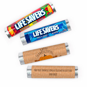 Personalized Thanksgiving Pumpkin Patch Lifesavers Rolls (20 Rolls)