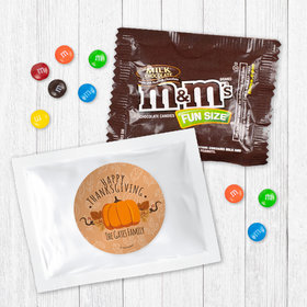 Personalized Thanksgiving Pumpkin Patch - Milk Chocolate M&Ms