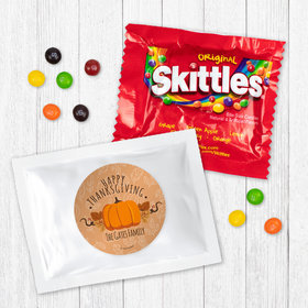 Personalized Thanksgiving Pumpkin Patch - Skittles