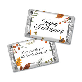 Personalized Thanksgiving Festive Leaves Hershey's Miniatures