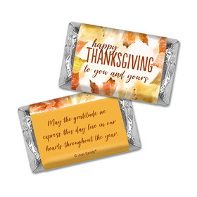 Personalized Thanksgiving Falling Into Autumn Hershey's Miniatures Wrappers
