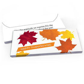 Deluxe Personalized Fall leaves Thanksgiving Candy Bar Favor Box