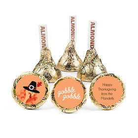Personalized Thanksgiving Gobble Gobble Hershey's Kisses (50 pack)