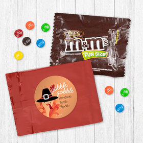 Personalized Thanksgiving Gobble Gobble - Milk Chocolate M&Ms