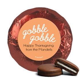 Personalized Thanksgiving Gobble Gobble Chocolate Covered Oreos