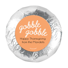 "Personalized Thanksgiving Gobble Gobble 1.25"" Stickers (48 Stickers)"