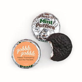 Personalized Thanksgiving Gobble Gobble Pearson's Mint Patties